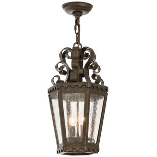 Meyda Tiffany Greenbriar Oak 2-Light Lantern Pendant
