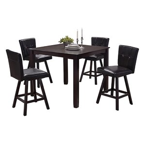 Neil 5 Piece Counter Height Dining Set by Latitu..