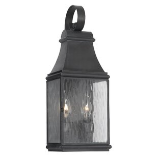 Compare prices Thornville 2-Light Outdoor Wall Lantern By Darby Home Co