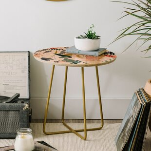 Marta Barragan Camarasa Brushstrokes I End Table by East Urban Home