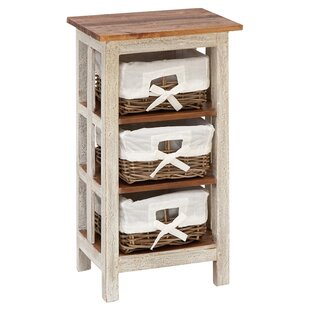 Affordable Nightingale Antiqued Rattan 3 Drawer Accent Chest ByAugust Grove