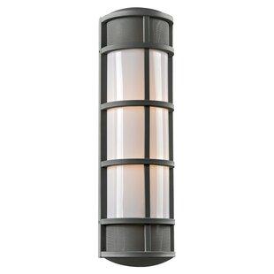 Check Prices Hamblin 2-Light Outdoor Bulkhead Light By Breakwater Bay
