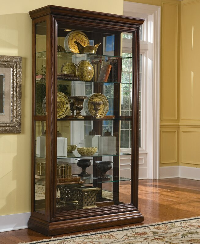 Darby Home Co Purvoche Lighted Curio Cabinet & Reviews | Wayfair