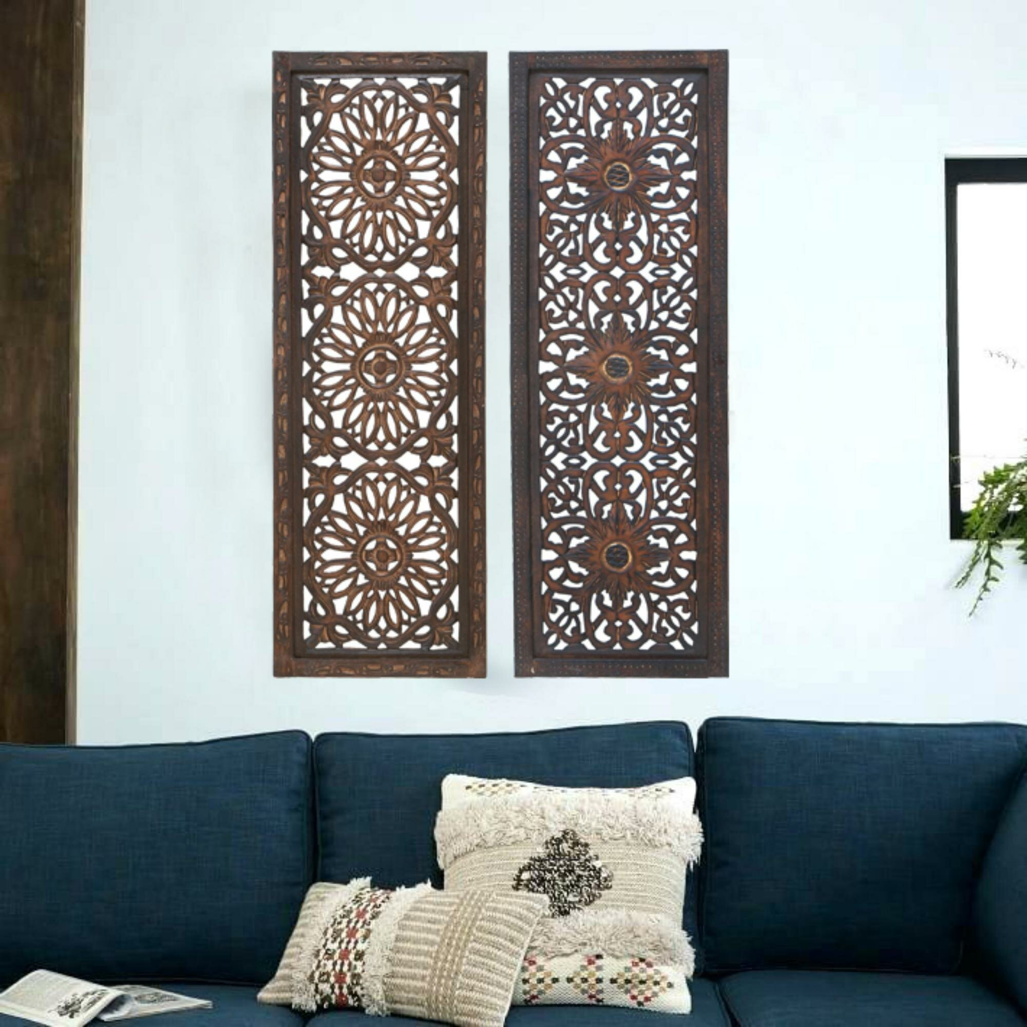 2 Piece Panel Wood Wall Decor Set
