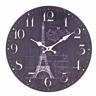 Huy Eiffel Tower 13.5 Wall Clock by Ophelia & Co.