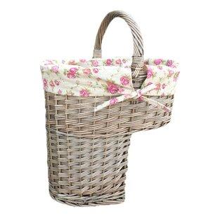 Garden Rose Lining Wicker Basket By August Grove