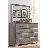 Ciara 8 Drawer Double Dresser with Mirror by Grovelane Teen