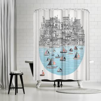 East Urban Home David Fleck Drift Single Shower Curtain Wayfair