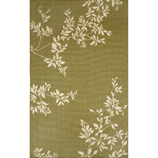 Aldreda Green Vine Indoor/Outdoor Rug