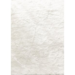 Searching for Thayer Faux Fur White Area Rug ByRosdorf Park