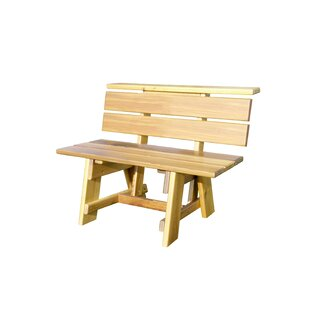 Offutt Signature Wooden Garden Bench