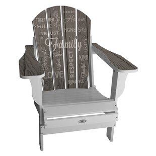 Latitude Run Kennon Plastic Folding Adirondack Chair