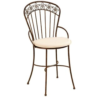 Daisy Ribbon Patio Dining Chair with Cushion