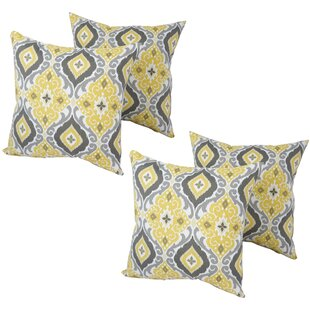 Hoisington Indoor/Outdoor Throw Pillow (Set of 4)