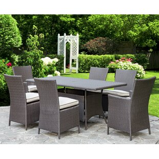 Dwaine Outdoor 7 Piece Dining Set (Set of 4)