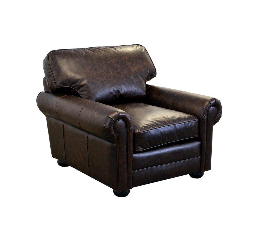 Superb Fenway Studio Genuine Top Grain Leather Club Chair