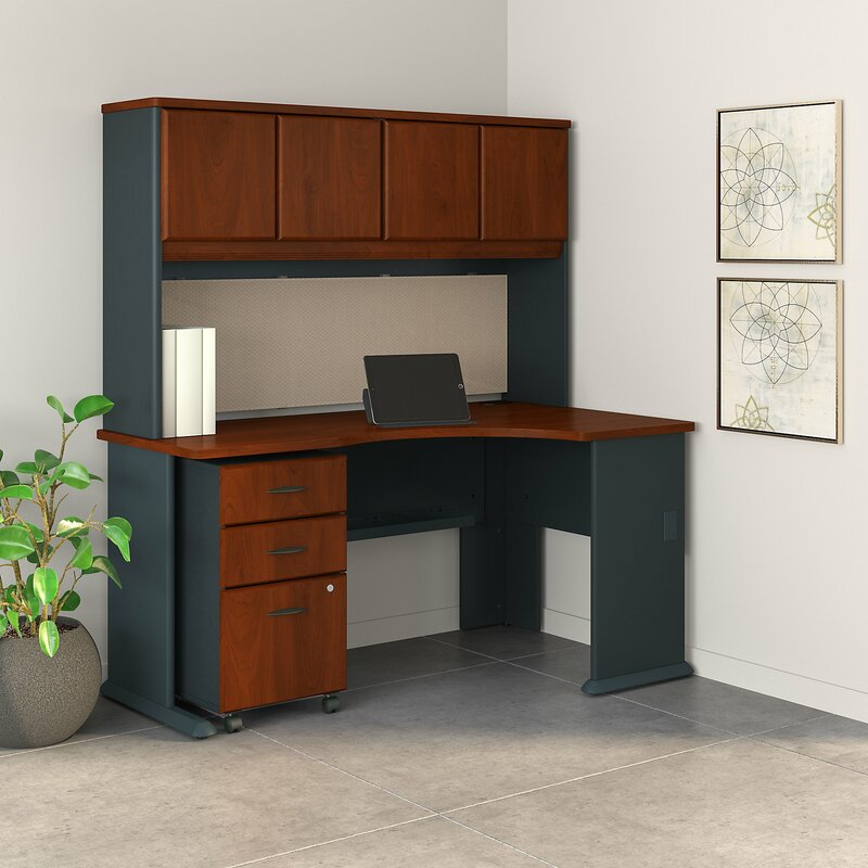 Bush Business Furniture Series A Desk With Hutch And 3 Piece Office Set Wayfair