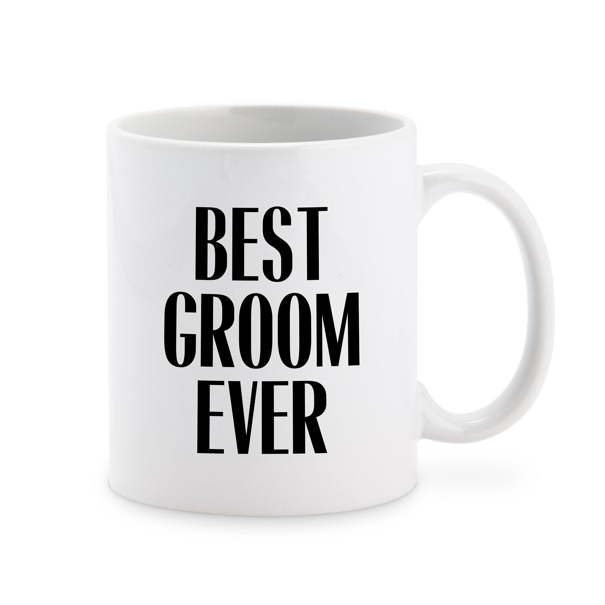 Winston Porter Eton Best Groom Ever Personalized Coffee Mug Wayfair