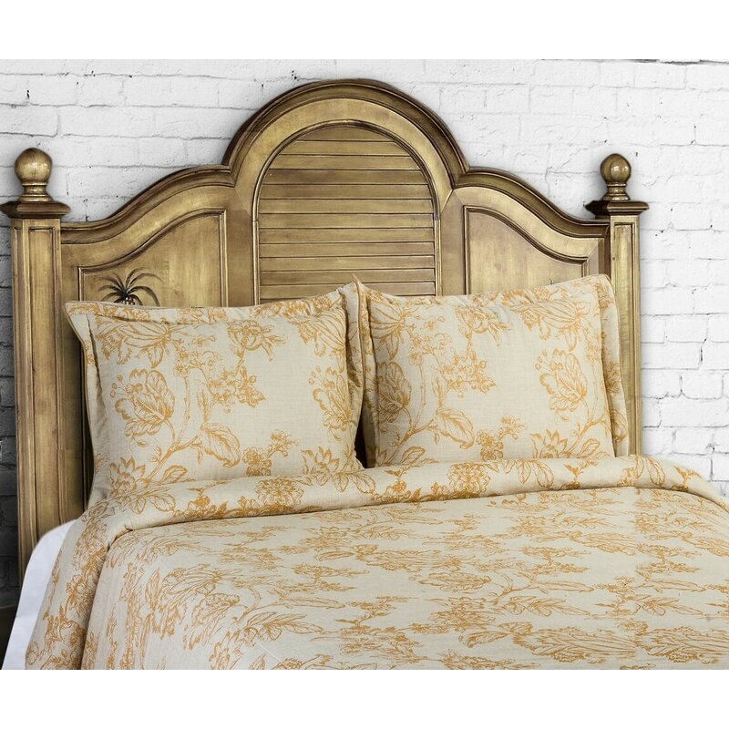 14 Karat Home Inc. French Country 3 Piece Duvet Cover Set Size: King, Color: Curry