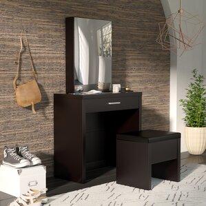 light up vanity table. Laporte Vanity Set with Mirror Lighted Table  Wayfair