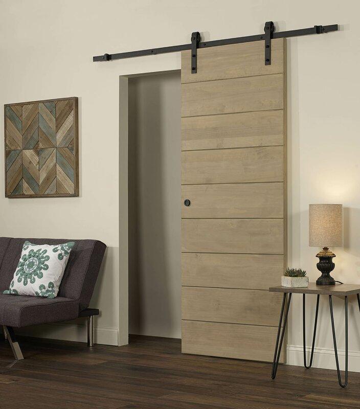 Horizontal Solid Wood Interior Barn Door & LTL Barn Doors Horizontal Solid Wood Interior Barn Door \u0026 Reviews ...