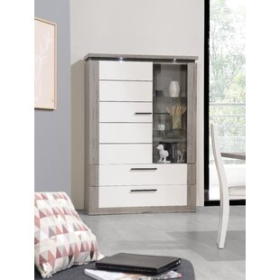 Prindle Curio Cabinet With Lighting By Mercury Row