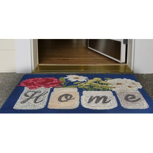 Calderon Home Hand-Tufted Blue Indoor/Outdoor Area Rug