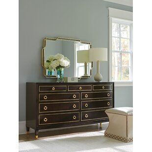 Lexington Carlyle 9 Drawer Dresser with Mirror