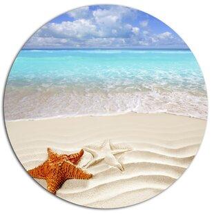 Brown Starfish On Caribbean Beach Photographic Print Metal