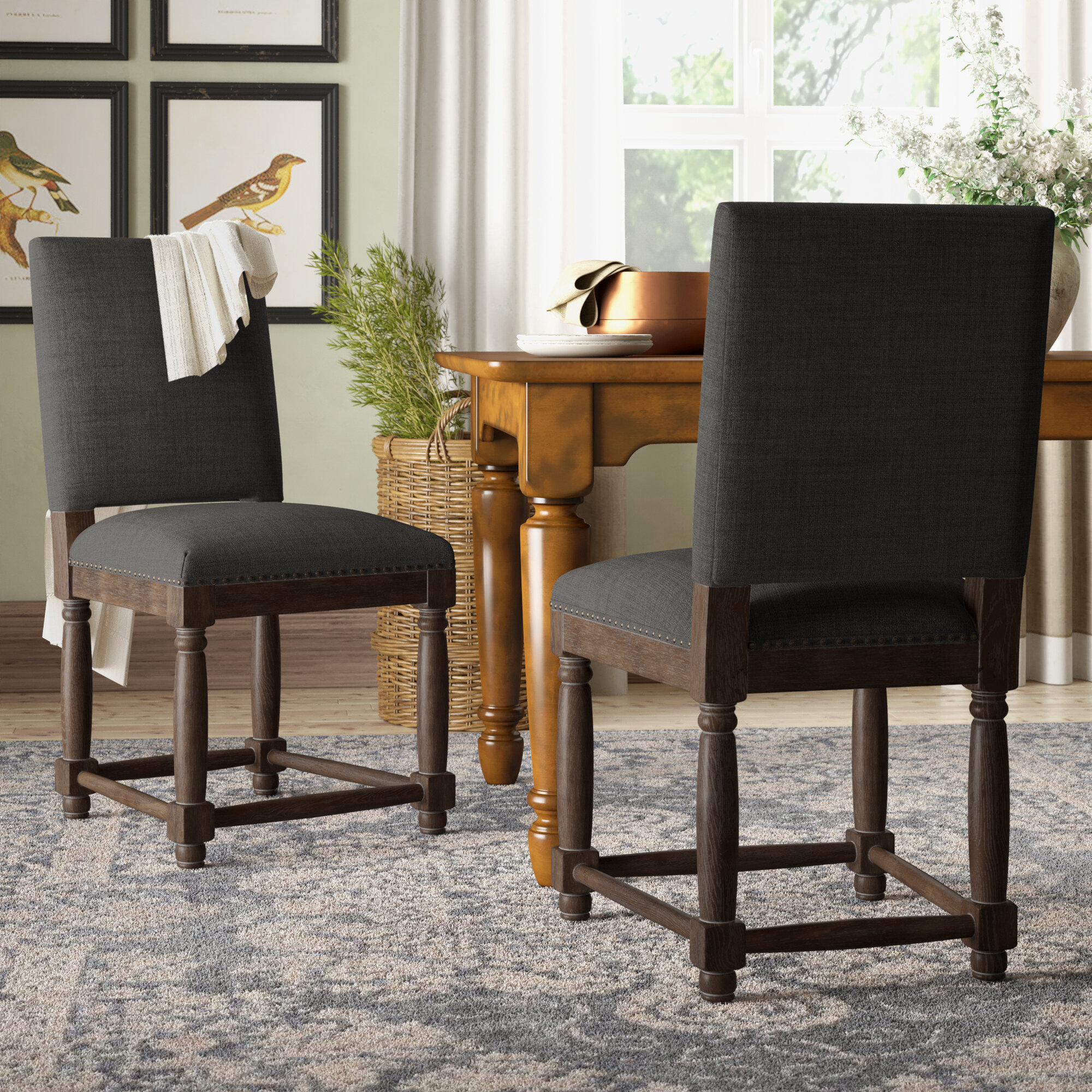Image of: Washburn Upholstered Dining Chair Reviews Birch Lane