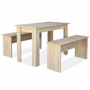 Johnny Dining Set With 2 Benches By August Grove