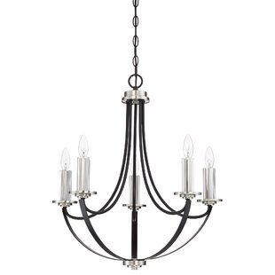 Gracie Oaks Siavash Mystic Black 5-Light Chandelier