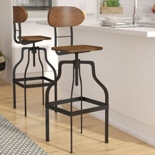 Renfrow Adjustable Height Swivel Bar Stool Laurel Foundry Modern Farmhouse