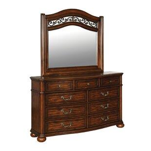 Chaska 9 Drawer Dresser with Mirror