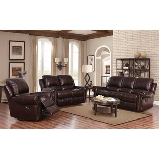 Barnsdale Reclining 3 Piece Leather Reclining Living Room Set by Darby Home Co