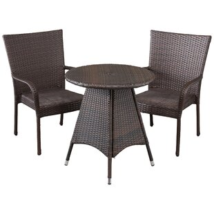 Holley 3 Piece Bistro Set by Bayou Breeze