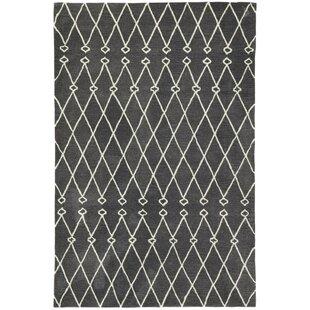 Order Perdita Trellis Hand-Tufted Gray/White Area Rug ByGracie Oaks