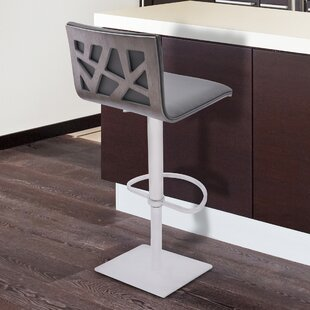 Inexpensive Bonetti Adjustable Height Swivel Metal Bar Stool by Orren Ellis Reviews (2019) & Buyer's Guide