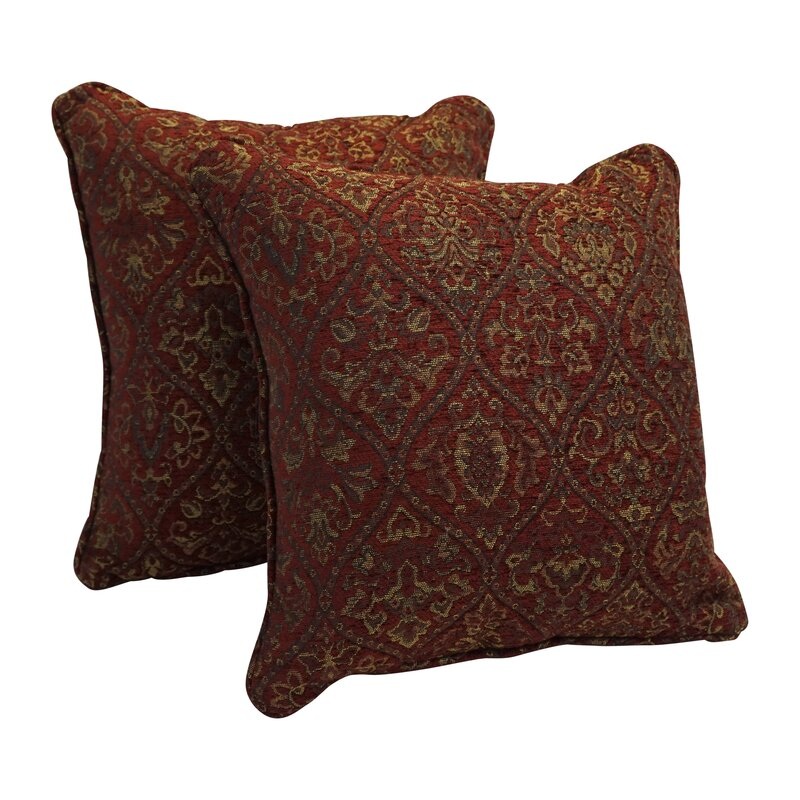 Astoria Grand Lomita Chenille Damask Floor Pillow Reviews Wayfair