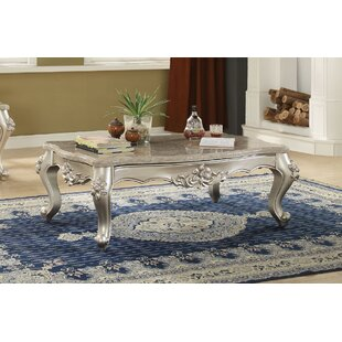 Townley Scalloped Living Room Coffee Table