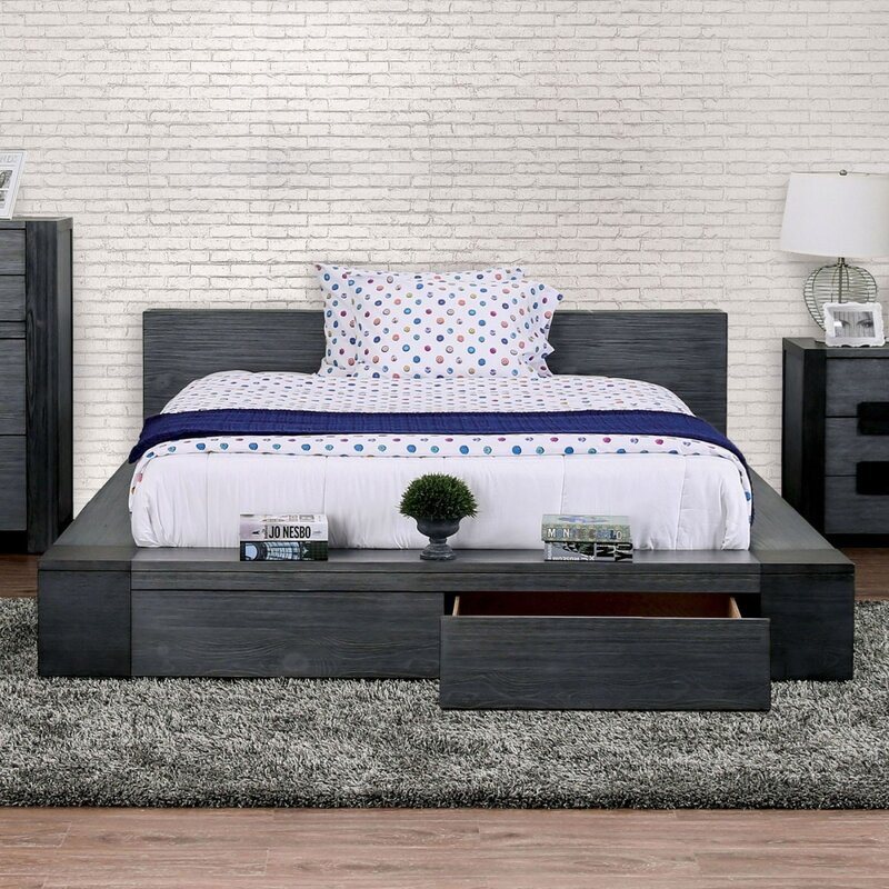 Loon Peak Rudden Storage Standard Bed Wayfair