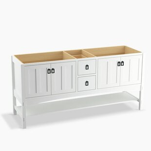Marabou? 72 Vanity with 4 Doors and 2 Drawers, Split Top Drawer by Kohler