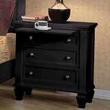 Brodhead 3 - Drawer Nightstand by Longshore Tides