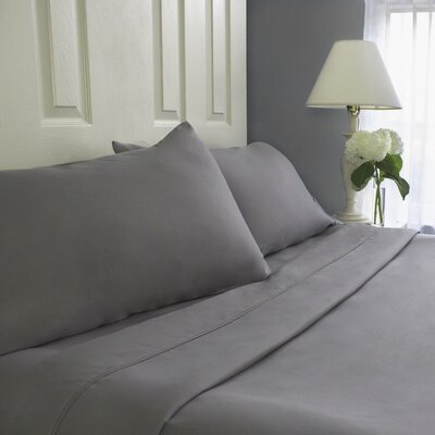 Sheet Set Cozy Bed Size: Full, Color: Gray