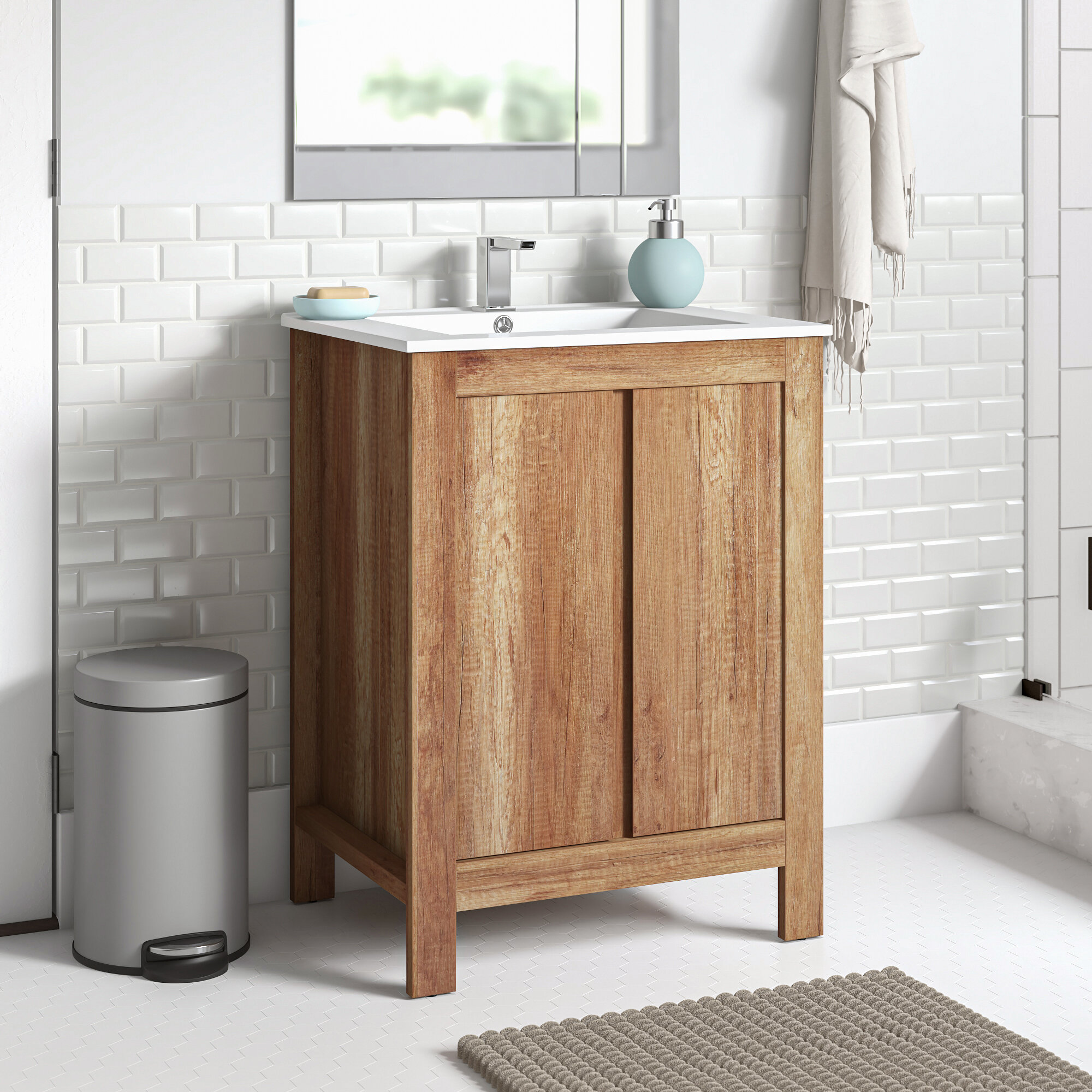 Zipcode Design Casandra 600mm Free Standing Vanity Unit Reviews Wayfair Co Uk