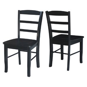 brianne solid wood dining chair set of 2