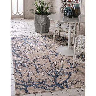 Allon Beige/Blue Indoor/Outdoor Area Rug