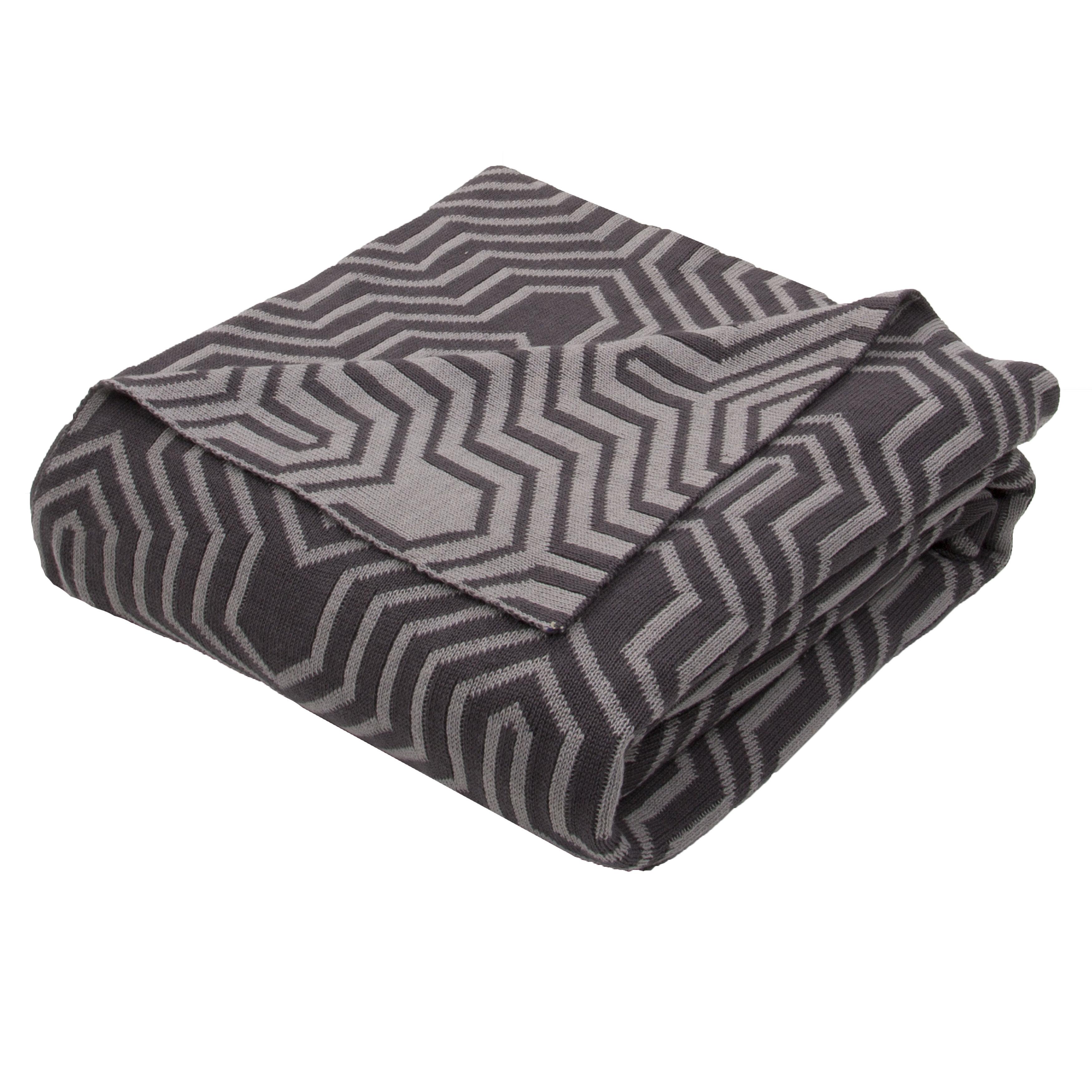 9716ed31c Drumanaway Handloom Modern Cotton Throw Blanket