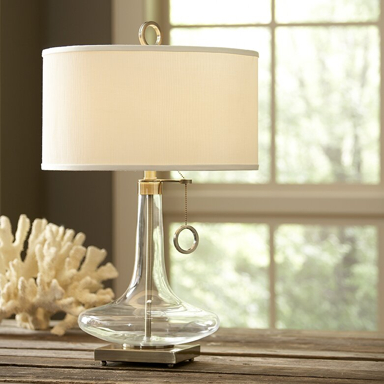 Glass Table Lamp campbell glass table lamp & reviews   birch lane