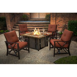Kirkpatrick 5 Piece Conversation Set with Cushions